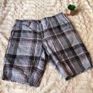 Calvin Klein Black & White Checkered Shorts